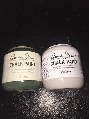 Annie Sloan Paint 2 X 100ml Paint Pots -Paloma  & Olive -small Projects! • 18.90£