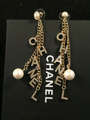 AU680 • Buy Authentic Chanel Letter Earrings