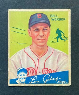 $11.50 • Buy 1934 Goudey Bill Werber #75 Boston Red Sox