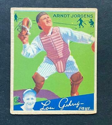 $7.59 • Buy 1934 Goudey Arndt Jorgens #72 New York Yankees