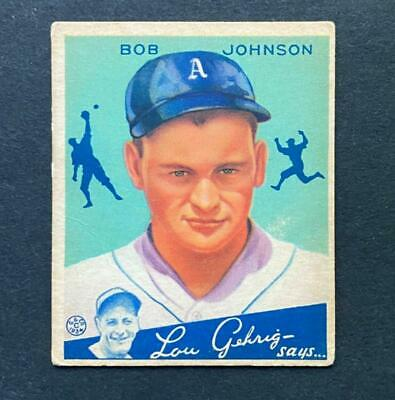 $9 • Buy 1934 Goudey Bob Johnson #68 Philadelphia Athletics