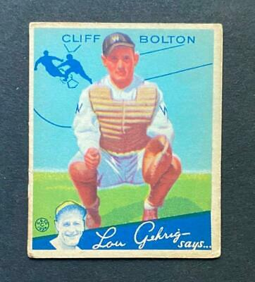 $7.59 • Buy 1934 Goudey Cliff Bolton #65 Washington Senators