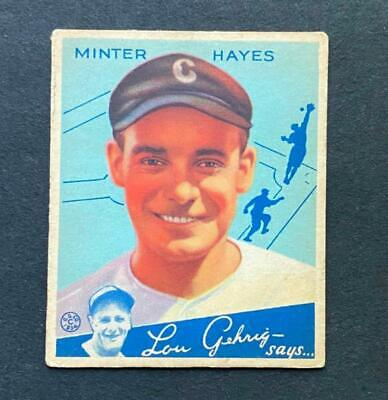 $9.50 • Buy 1934 Goudey Minter Hayes #63 Chicago White Sox