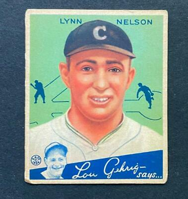 $9 • Buy 1934 Goudey Lynn Nelson #60 Chicago Cubs