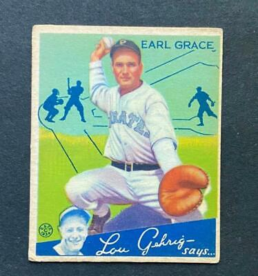 $9.38 • Buy 1934 Goudey Earl Grace #58 Pittsburgh Pirates