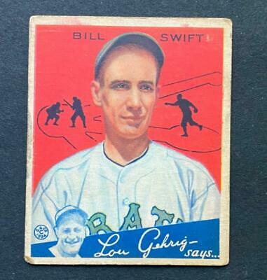 $9.38 • Buy 1934 Goudey Bill Swift #57 Pittsburgh Pirates