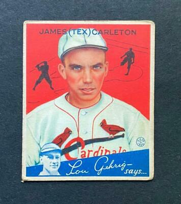 $9.50 • Buy 1934 Goudey Tex Carleton #48 St. Louis Cardinals