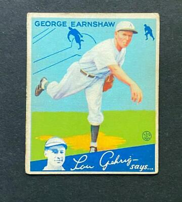 $9 • Buy 1934 Goudey George Earnshaw #41 Chicago White Sox