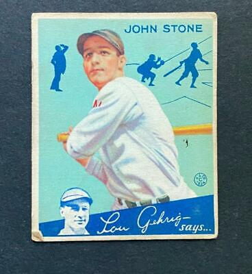$9 • Buy 1934 Goudey John Stone #40 Washington Senators