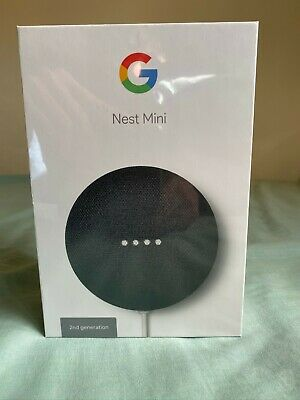 AU40 • Buy NEW Sealed Google Nest Mini 2nd Gen Smart Speaker - Charcoal