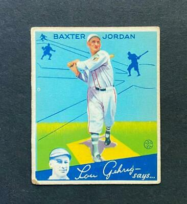 $9.50 • Buy 1934 Goudey #31 Baxter Jordan Boston Braves