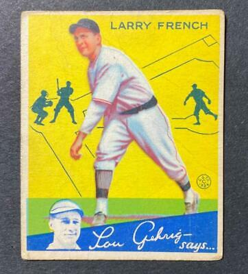 $8.59 • Buy 1934 Goudey #29 Larry French Pittsburgh Pirates