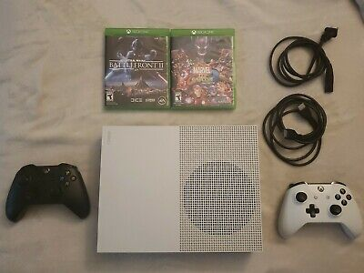 $199 • Buy Microsoft Xbox One S 500GB White Home Game Console Bundle *Read Below For Specs*
