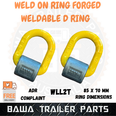 AU49.95 • Buy 2x Weld On Forged Ring Trailer Tie Down Anchor Point Weldable Lashing D Ring 2T