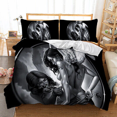 3D Gothic Duvet Quilt Cover Bedding Set Pillow Cases Single Double King Sizes • 23.74£