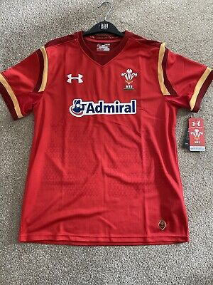Wales Rugby Union Home Shirt Large • 10.50£