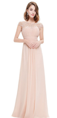£30 • Buy Ever-Pretty Womens Cap Sleeve Lace Neckline Ruched Bust Evening Gown 20