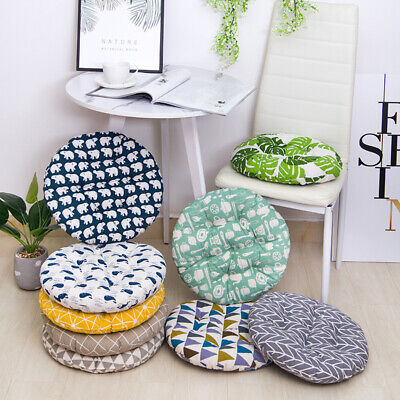 £6.29 • Buy Nordic Round Cotton Cushion Dining Chair SEAT PADS Thick Garden Floor Cushion