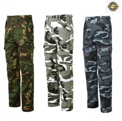 £14.95 • Buy Mens Casual Workwear Camouflage Camo Woodland Outdoor Army Combat Trousers Pants