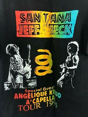 $ CDN70.37 • Buy Vintage Size XL Santana Jeff Beck 1995 Concert Tour T Shirt  A Capella Kidjo D16