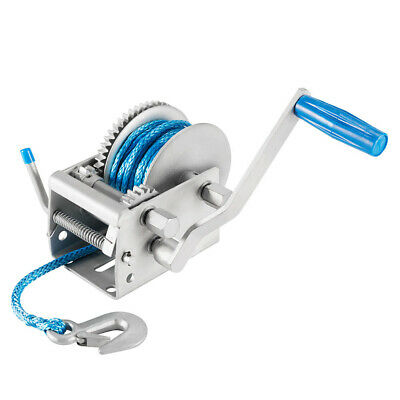 AU87.95 • Buy 2000KG 3 Speed Hand Winch With 10M Dyneema Synthetic Rope 4WD Accessories