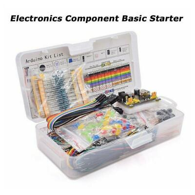 Electronic Component Starter Kit Wires Breadboard LED Buzzer Resistor • 8.14£