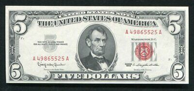 $ CDN40.21 • Buy Fr. 1536 1963 $5 Red Seal Legal Tender United States Note Gem Uncirculated