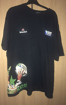 Canterbury Heineken Rugby World Cup 2011 Official Tshirt Size 2XL 🏉 • 2.99£