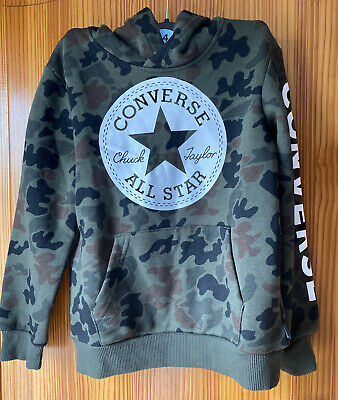 Converse Camouflage Boys Jumper 6-7 Years New Tags Hoodie • 29.99£