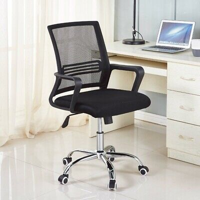 AU84.17 • Buy Office Chair Desk Computer Chairs Mid-Back Task Swivel Seat Ergonomic Chair-1839
