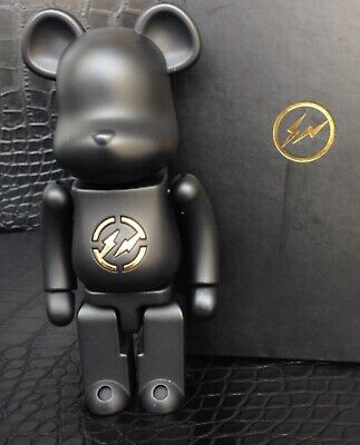 $1200 • Buy Medicom Bearbrick 2010 Fragment Design Black 200% Chogokin/Metal Be@rbrick MINT