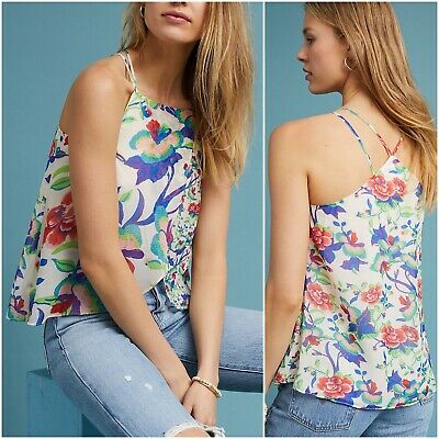 $ CDN44.83 • Buy Anthropologie XL Maeve St Lucia Floral Layered Strappy Tank Blouse