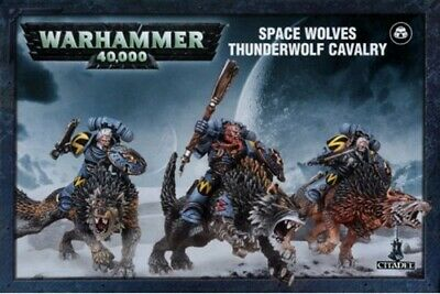 Warhammer 40k Space Wolves Thunderwolf Cavalry - New Sealed • 17£