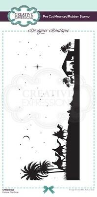 £6.26 • Buy Creative Expressions - Designer Boutique Collection - Pre Cut Rubber Stamp - Fol
