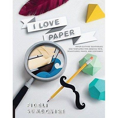 £9.99 • Buy I Love Paper: Paper Cutting Techniques And Templates Paperback Craft Book