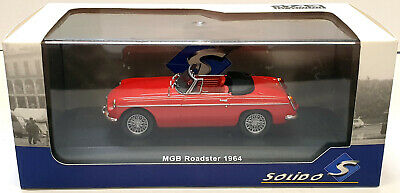 Solido MGB Roadster Convertible, 1964, Red, 1:43 Scale Diecast Model S4301200 • 41.39£