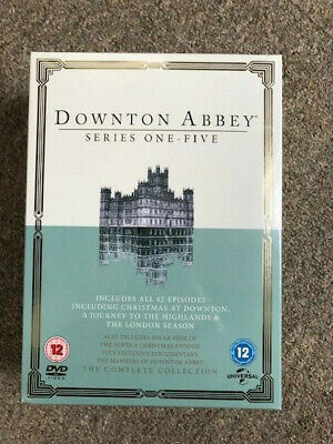 DOWNTON ABBEY - Series 1-5; NEW, Complete DVD Box Set. • 28£