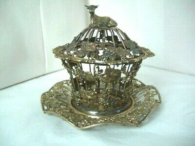 Vintage Silver Plated Regency Style Butter/ Consreve Dish **NO Glass Liner***   • 58£