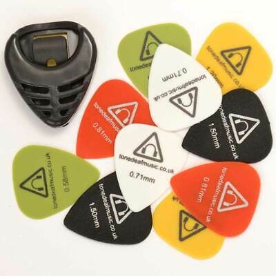 $ CDN10.24 • Buy 10 X GUITAR PICKS & PLECTRUMS HOLDER Acoustic Bass Electric Plectrum Pick Gauges