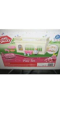 £12 • Buy CHAD VALLEY DREAM KINGDON WOODEN TERRACE CAFE  PLAY SET Gift Present Toys