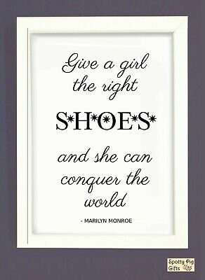 Print Marilyn Monroe Quote Shoes Wall Art Framed Picture Poster Film Icon • 9.95£