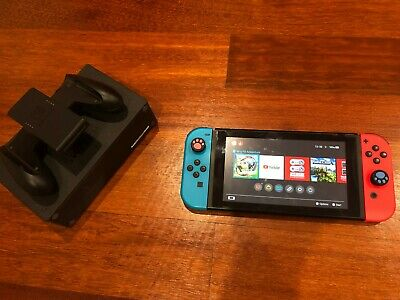 AU350 • Buy Nintendo Switch 32GB Neon Red And Blue Excellent Condition
