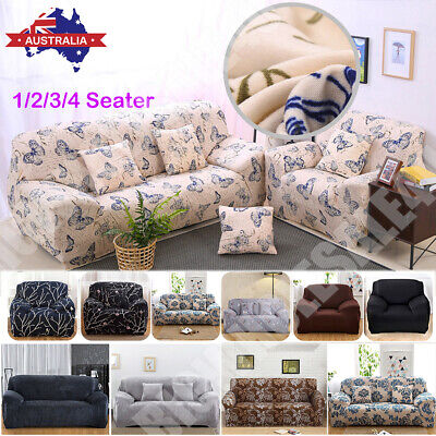 AU29.25 • Buy 1 2 3 4 Seater Stretch Sofa Cover Couch Lounge Recliner Slipcover Protector AU