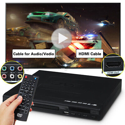 AU37.89 • Buy 1080P HDMI LCD DVD Player 6 Regions Video USB Discs MP3 Remote Breakpoint Memory
