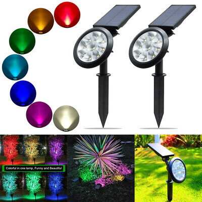 9/17LED Waterproof Solar Spot Light Color Changing Wall Outdoor Lamp Landscape • 14.89£