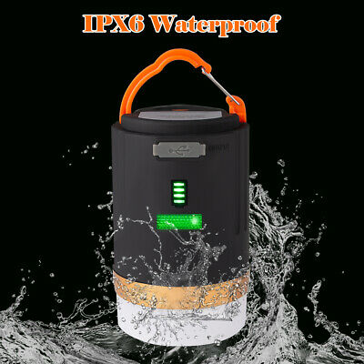 £13.39 • Buy Rechargeable LED Camping Light Tent Portable Lantern Night Lamp Phone Charger