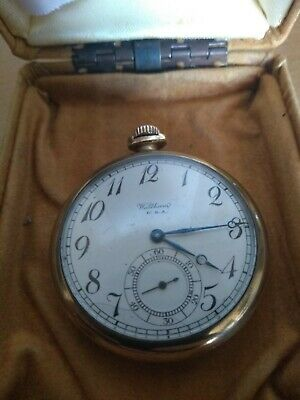 Open Face 1920s Waltham Pocket Watch, 7 Jewels, Size 12s, 3 Quarter Plate, • 25£