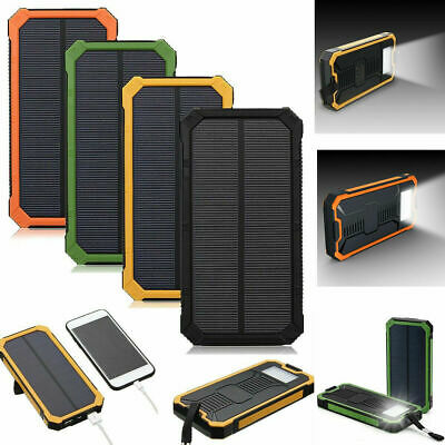 AU16.62 • Buy 50000mAh Solar Power Bank Waterproof Dual USB LED Battery Charger For Cell Phone