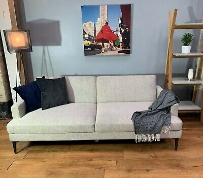 John Lewis Andes Large Double Futon Sofa Bed, Stone Twill Fabric - RRP: £1,469 • 899£