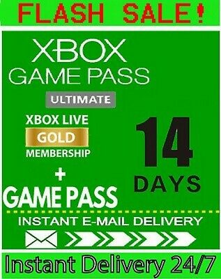 $1.90 • Buy XBOX LIVE 14 Day GOLD + Game Pass (Ultimate) Trial Code INSTANT DISPATCH